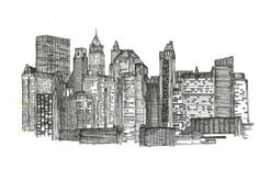 Margaux Giron work on the city and its monuments NEW YORK https://www.behance.net/gallery/16948205/Postcard