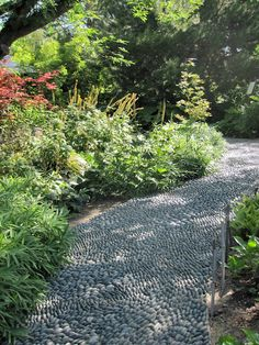 "Japanese Garden Walkway - a dry ""river"" with rock"