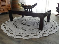 Giant Doily Floor Rug: instructions