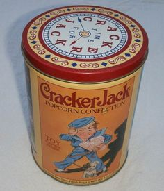 CRACKER JACK 1993 100th ANNIVERSARY TIN LITHO CANISTER