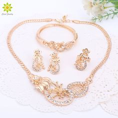 African Wedding Jewelry Sets African Women Necklace African Beads Jewelry Sets Indian Fashion Jewelry #Indian fashion