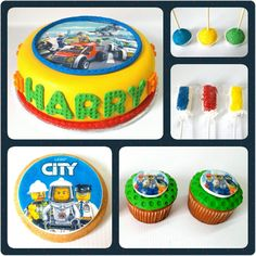 Combo Lego City #PrityCakes #PrityCakes #cake #cupcakes #cakepoos #malvapops #galletas #edibleprint #fondantart #lego #legocity #legoblocks #panama #pastrypanama #pty #pty507