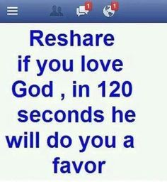 Just the simple fact that I love God