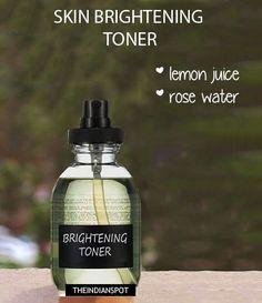 DIY Lemon Toner - Skin Brightening toner / mist