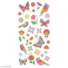 Stickers Puffies 13,5 x 8 cm - Primavera - 31 uds - Fotografía n°1