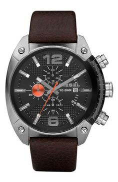 Diesel Women Wrist Watch on YOOX. The best online selection of Wrist Watches Diesel. YOOX exclusive items of Italian and international designers - Secure payments Daniel Wellington, Diesel Watches For Men, Luxury Watches For Men, Herren Chronograph, Brown Leather Strap Watch, Cartier Tank, Gents Watches, Wrist Watches, Nice Watches