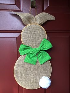 Easter Bunny Door Decoration by TheRoseTreeShop on Etsy