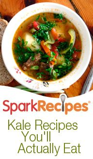15 Kale Recipes You'll Actually Eat! Great recipes from Daily Spark!