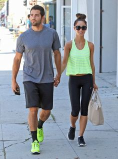 Jesse Metcalfe and Cara Santana..Always working out together..Love this Couple!! <3