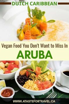 Looking for the best vegan restaurants in Aruba? We've gathered all of the best places to go for vegan food - from beach bars to swanky restaurants - so you've got lots of healthy vegetarian and vegan food options to choose from Vegan Food, Vegan Recipes, Vegetarian Food, Best Vegan Restaurants, Aruba Caribbean, Veggie Fries, Thing 1, Healthy Food Options, Vegan Appetizers