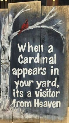 My mother-in-law says this all the time!  How to get cardinals to your backyard - best cardinal bird feeders - backyard cardinals