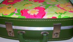 Fabric Covered Vintage Suitcase  Vintage by FabFindsandDesign, $30.00