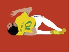 Neymar Jr WM 2014 Illustration