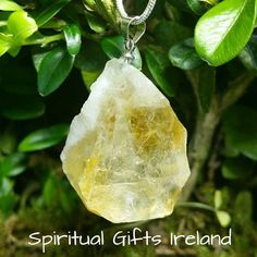 Selene Citrine Pendant Visit our store at www.spiritualgiftsireland.com  Follow Spiritual Gifts Ireland on www.facebook.com/spiritualgiftsireland www.instagram.com/spiritualgiftsireland www.etsy.com/shop/spiritualgiftireland We are also featured on Tumblr  Citrine is a bright energetic stone mirroring the golden colour of the sun's rays.  Orange is a very powerful colour representing vibrancy, energy and strength.  It is a stone of prosperity, success and abundance, perfect for followers of…