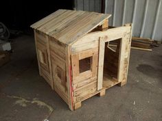 Use Pallet Wood Projects to Create Unique Home Decor Items – Hobby Is My Life Pallet Playhouse, Pallet Shed, Build A Playhouse, Pallets Garden, Playhouse Ideas, Pallet Fort, Pallet Gardening, Outdoor Pallet, Pallet Crafts