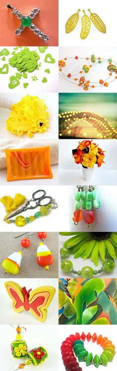 Orange, Lemon and Lime by Allison and Sheryl on Etsy--Pinned with TreasuryPin.com