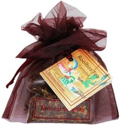 Rooibos teas included in this sampler: Caramel Rooibos, Pecan Cinnamon Roll, and Natural Serenity. Makes a great holiday gift, especially when paired with a cute tea cup!