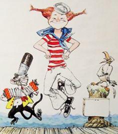 pippi longstocking + mr. nilsson / navy