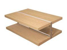 Rectangular coffee table with storage space HORIZONTE by Branco sobre Branco