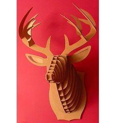Cardboard Deer...Making this for Dylan!