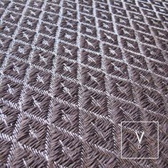 [ Every Cloud has a Silver Lining ] Loving this combination of cloudy-grays and moon-lit metal in our emblematic rhombus weave a perfect alternative for those who love our Silver Fall rug. #VerdiDesign #WeavingIntoNature #Metal #Rug #Silver #Weave #InteriorDesign