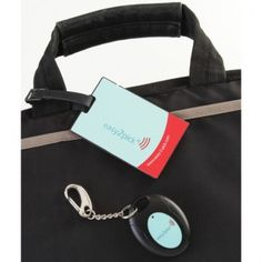 Wireless Luggage Finder: Electronic luggage tag with a transmitter and wireless recognition key fob. The tag flashes, sounds and vibrates when it is within 20 meters of the key fob. $24.95.