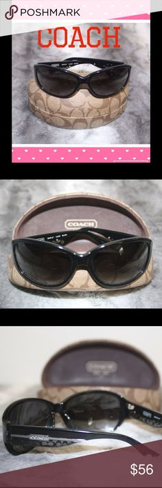 Coach sunglasses Coach sunglasses with case included, with few scratches on lenses but still beautiful and in very good condition. Reasonable offers are welcome. Coach Accessories Sunglasses