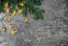 Christmas decoration golden stars by LiliGraphie on @creativemarket