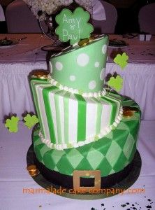I would make this just for St. Patty's day!!!  St. Patrick's Day Wedding Cakes