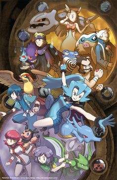 Johto League Gym Leaders by slimu.deviantart.com on @deviantART