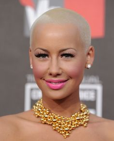 Amber Rose- If I could look this good with a shaved head I would do it!