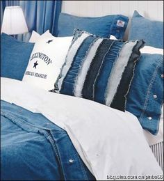 Utilization of waste: old jeans transformed into various household items _ Patchwork network blog