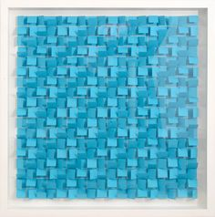 """""""Blue Chips"""" by Gregg Welz, Drawing Paper, 20"""" x 20"""""""