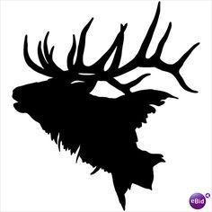 Elk Head Decal #2 ST Vinyl Window Stickers Hunting on eBid United ...