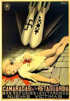 Spanish Civil War: Anti-Fascist Civil War Poster, Spain, ca. Political Posters, Political Art, Frente Popular, Spanish War, Spanish Songs, Spanish Posters, Propaganda Art, Communist Propaganda, Poster Ads