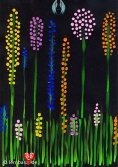 Spring meadow dot painting - Spring meadow dot painting - #ArtLessons #Design #Dot #FamousArtists #InteriorDesign #meadow #painting #spring<br> Spring Painting, Dot Painting, Painting For Kids, Art For Kids, Painting Canvas, Art Floral, Flower Crafts, Flower Art, Diy Flowers