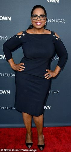 Monday versus December 12: It's unknown how many pounds Oprah has shed since buying $45M shares of Weight Watchers last October, but she did admit to dropping 26lbs in January