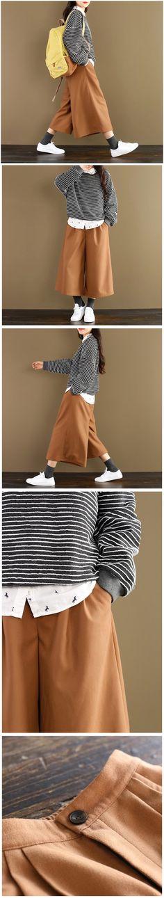 Width leg loose pants women's trousers