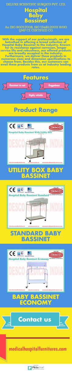 With the support of our professionals, we are betrothed in offering a broad collection of  Hospital Baby Bassinet to the industry. Known for its resistance against corrosion, longer service life and robustness, our offered products are broadly accepted in the industry.