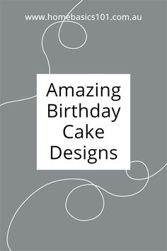 Make great cake designs that are super easy and simple to make Cool Birthday Cakes, Savoury Recipes, Cake Designs, Sweet Recipes, Super Easy, Sweet Treats, Entertaining, Learning, Cooking