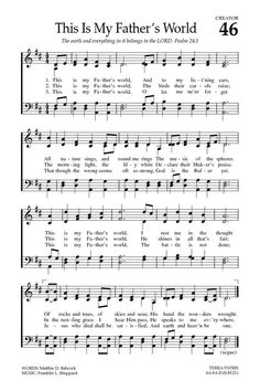 Baptist Hymnal 2008 46. This is my Father's world - Hymnary.org
