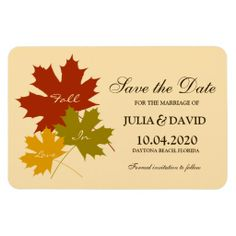 Fall In Love Wedding Save The Date Magnet