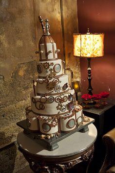 A steampunk wedding cake