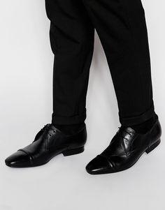 Chaussures derby par H by Hudson Tige en cuir véritable Fermeture par lacets Bout pointu Bout renforcé Semelle antidérapante Traiter avec un agent protecteur pour cuir Tige : 100% cuir véritable