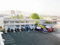 【熊本地震】 土砂の撤去作業などに用いる無人化施工機械が全国から集まる