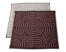 Aboriginal - Water Dreaming 1.8mx1.8m reversible play mat designed by Dean Briscoe from Anmatyerr Arts - Red wine