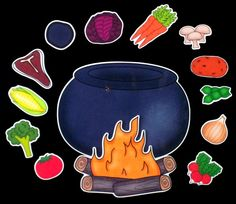Stone Soup Magnet Board Story Activity Set by byMaree on Etsy, $18.00