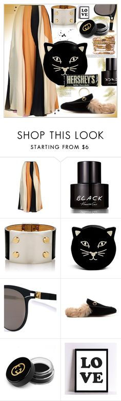 """""""Untitled #223"""" by dragananovcic ❤ liked on Polyvore featuring Roksanda, Avenue, Kenneth Cole, Balenciaga, Charlotte Olympia, Mykita and Gucci"""