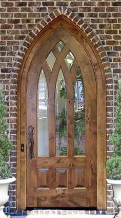 Old World Cathedral Top Door Style DbyD-3023 . I want a front door like this!