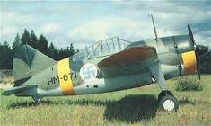 VL Humu HM6871. Finnish licence built variant of Brewster Buffalo F2A.